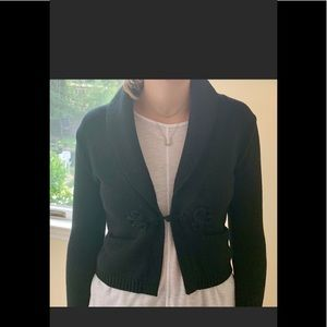 Womens bolero style sweater jacket